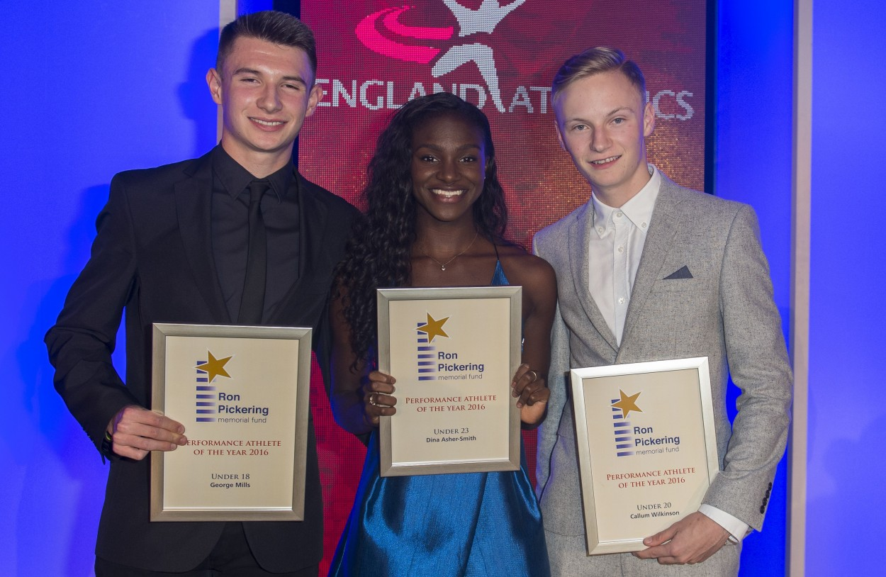 RPMF 2016 Young Athlete Awards at England Athletics' 'Hall of Fame' gala